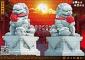 石狮子雕刻/青石石狮子/银行大门石狮
